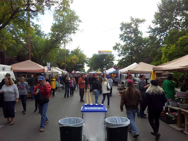 The street where the incident occurred, in happier times: An image from the 2013 Willy Street Fair.