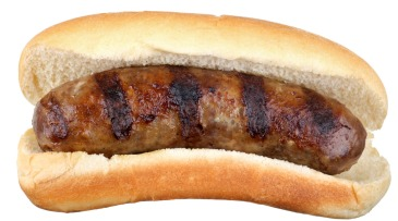 MJS Grilled Bratwurst Isolated