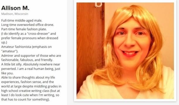 blog bio before
