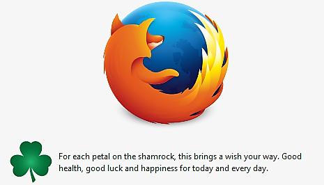 Firefox shamrock 3-17-2016