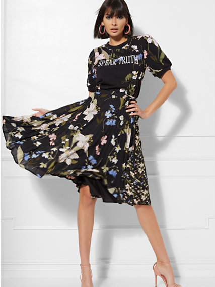 7th-avenue-black-floral-skirt-top